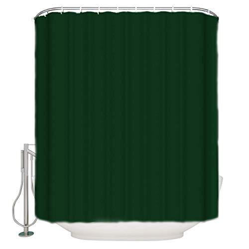 EdCott Dunkelgrün Muster duschvorhang langlebig wasserdicht Polyester waschbar Muster Dekoration raumdekoration zu Hause kein Geruch leicht zu reinigen duschvorhang für Badezimmer Hotel Vorhang
