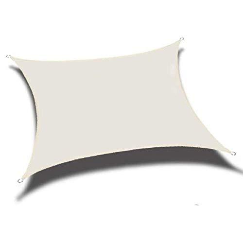 Sombreado Cuadrado Rectángulo 160GSM Poliéster Tejido Oxford Cubierta para piscina Protector solar Carpa Toldo impermeable Cubierta para plantas de patio Bloque UV Toldo Decoración Sombrilla