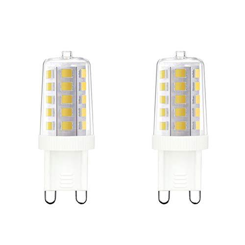 Noobibaba Bombilla LED G9 blanca fría, 6000 K, 4 W, repuesto para bombilla halógena G9, 40 W, 33 W, bombilla LED G9, no regulable, 2 unidades