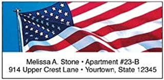 Amercian Flag Blue, Red & White Personalized Sheeted Name & Address Labels