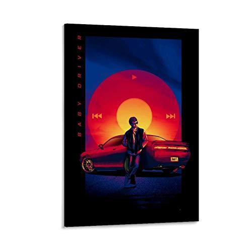 DRAGON VINES Póster de la película de acción americana de bebé conductor, sobre lienzo, para estudiantes universitarios, profesores, 60 x 90 cm