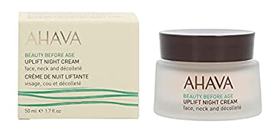 AHAVA Uplift Night 50 ml Dead Sea Anti Aging Wrinkle Reducer Treatment for Women and Men [Face and Neck] Firming and Tightening Facial Cream by Ahava Cosmetics Gmbh