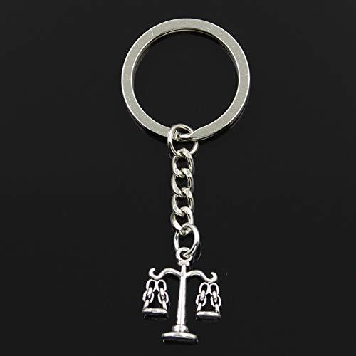 N/ A SGDONG modieuze 30 mm sleutelhanger van metaal, zilverkleurig, passende schaal, 22 x 17 mm hanger