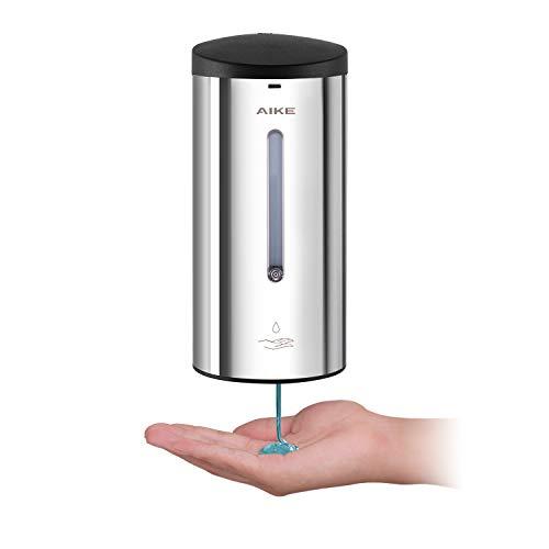 AIKE AK1205 Dispenser Sapone Automatico touchless de Muro Acciaio Inox con sensore a infrarossi per Bagno e Cucina, Grande 700 ml Adjustable Liquido, lucidato