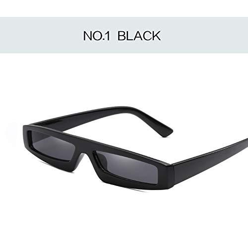 MOJINGYAN Zonnebrillen, Rechthoek Kat Oog Zonnebrillen Vrouwen 2019 Ontwerp Retro Zonnebrillen Dames Trend Persoonlijkheid Zonnebrillen Anti-Uv Oogkleding Zwart
