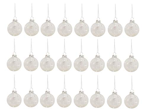 CraftMore Glass Ornament Mega Pack, 24 Piece, 60mm