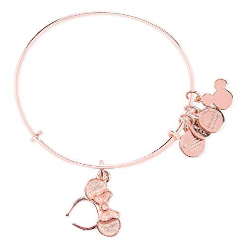 Disney Alex Ani Minnie Mouse Headband Ears Rose Gold Bangle Bracelet