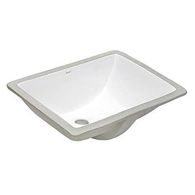 Ruvati 17 x 12 inch Undermount Bathroom Vanity Sink White Rectangular Porcelain Ceramic with Overflow - RVB0718
