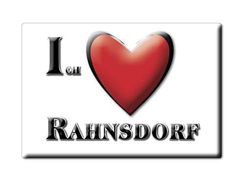 Enjoymagnets RAHNSDORF (BE) Souvenir IMANES DE Nevera Alemania Berlin IMAN Fridge Magnet Corazon I Love