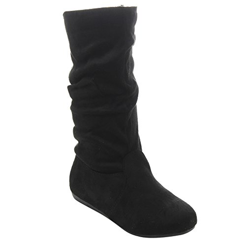 Wrangler Girls' Big Stretch Boot Cut Jean, Mid Blue, 10 Slim