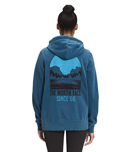 The North Face Women's Mountain Peace Full Zip Hoodie, Monterey Blue, L