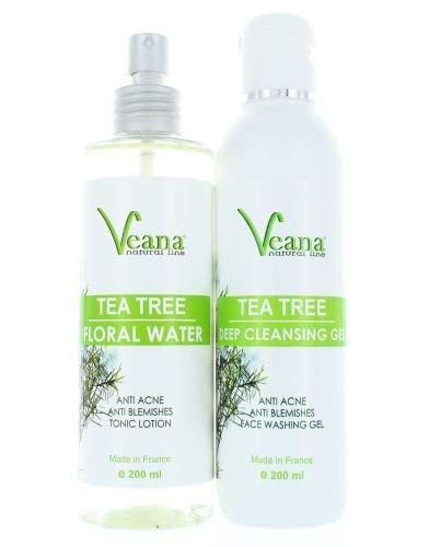 Anti Acne Nettoyage en Profondeur Nettoyant Visage + Tea Tree Floral Eau