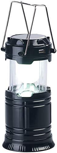 Semptec Urban Survival Technology Solar Campinglampe: 3in1-Solar-LED-Camping-Laterne, Handlampe & USB-Notlader, 80 Lumen (Campinglampe Solar USB)