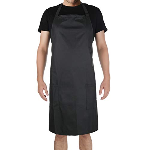 Dennov Rubber Vinyl Waterproof Apron, Chef Apron, Cooking Apron, Kitchen Apron, Chemical Apron, Safety Apron, with 2 Pockets, Adjustable Bid