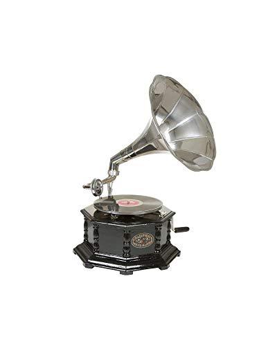#05 GRAMMOFONO - Grammofono ottagonale placcato in nichel