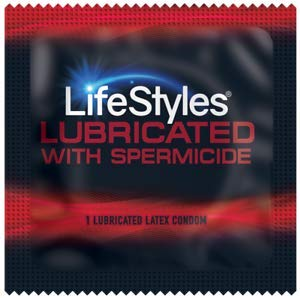 Lifestyles Ultra Lubricated with Spermicide Plus Brass Lunamax Pocket Case, Premium Latex Condoms-24 Count