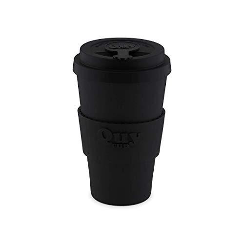QUY CUP. Bob. Kaffeebecher To Go, Travel Mug, Bamboo Cup als Mehrweg Tasse für unterwegs, Coffee to go Becher, nachhaltiger Becher mit Deckel und Silikonmanschette, 400ml