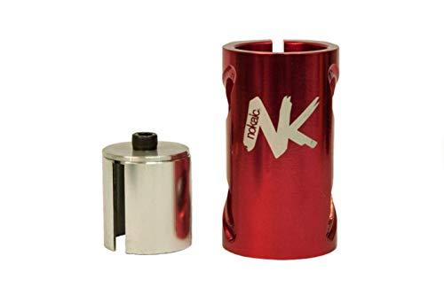 Nokaic SCS, Compresión de 4 Tornillos para Patinete Freestyle, Color Rojo