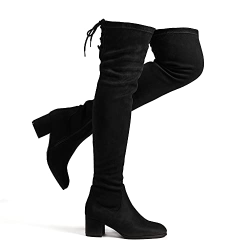 DREAM PAIRS Women's Over The Knee Thigh High Chunky