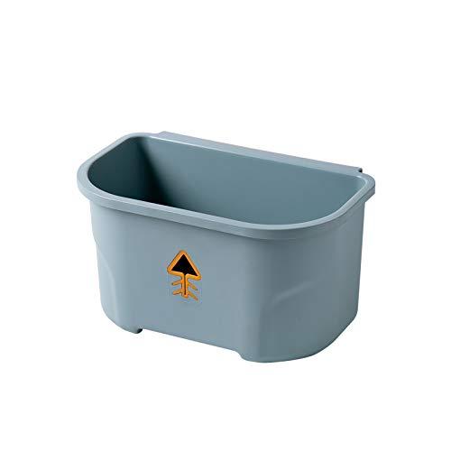 Cubo de basura multifuncional para el hogar tipo colgante sanitario cubo de basura colgante bajo el fregadero de la cocina, basurero de plástico para pared (azul, 27,5 x 17,3 x 15...