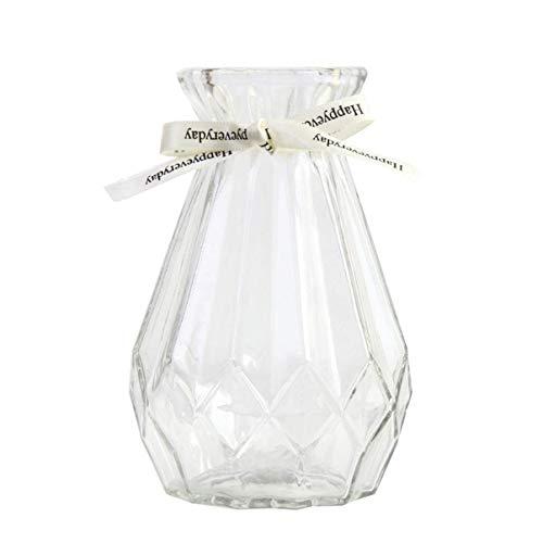 花瓶 花器 フラワーベース 一輪挿し ガラスベース ガラスボトル アレンジ インテリア 水栽培 生け花 造花 おしゃれ シンプル インテリア雑貨 飾り瓶 北欧 レトロ風 リボン付き