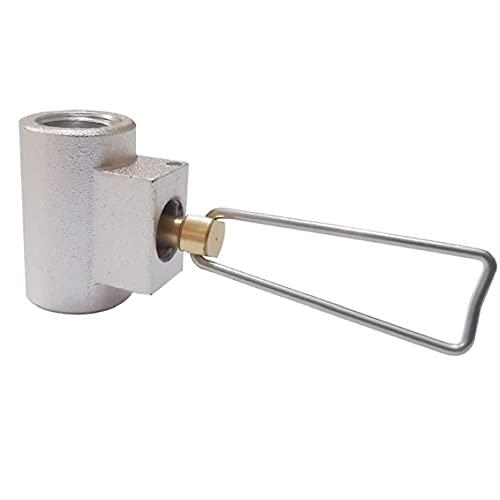 NIDONE Adaptador de tanque de gas de camping cilindro de gas Adaptador de tanque de propano adaptador al aire libre para Camping Gas Aparatos Gris