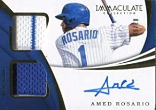 Amed Rosario Autographed 2018 Panini Immaculate Collection Jersey Card - Baseball Autographed Game Used Cards