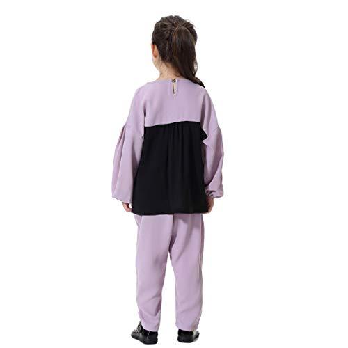 Tonsee Tenues De Filles, Mignon Bébé Fille Enfants Musulman Islamique Patchwork Manches Longues Pantalon Long Vêtement Ensemble