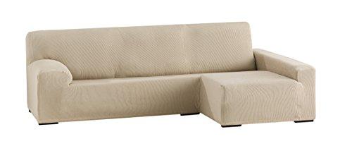Eysa Italia Ulises Funda chaise longue elástica, Textura, BEIGE, 250-310 cm