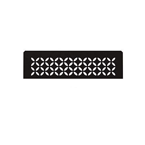 Schluter Systems Niche Shelf-N - Floral Design - Matte Black - (SNS1D5MGS) Kerdi-Line Shower Acessory