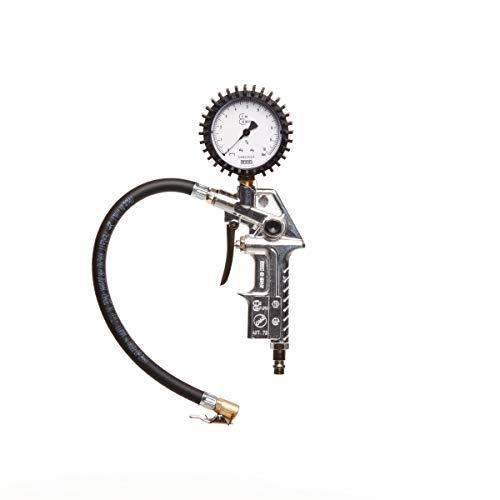 MICHELIN - Inflador con medidor de presión de neumáticos - Presión máxima: 10 bar - Homologado, negro, norme