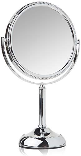 Jerdon JP910CB 1x and 10x Magnified Tabletop Swivel Vanity Mirror, 23.2 Ounce, -