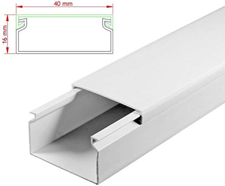 SCOS Smartcosat AVC-289 11m Kabelkanal Weiß Weiß Weiß zum verschrauben 11x 100cm 40x16mm Deckenkanal Besteehend aus Unterteil und Oberteil zur Montage direkt auf der Wand B07NLNGGP9 | Erste Qualität  5999c9