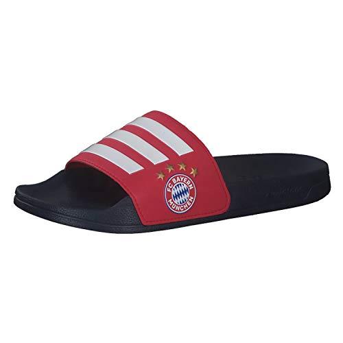 adidas FC Bayern München Shower Adilette Badelatschen (46, Navy/red/White)