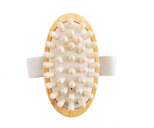 CareforYou Masseur anti-cellulite en bois naturel de veau maigre pour le bain douche le corps sauna spa réduit les muscles détendre la circulation sanguine améliore la circulation sanguine