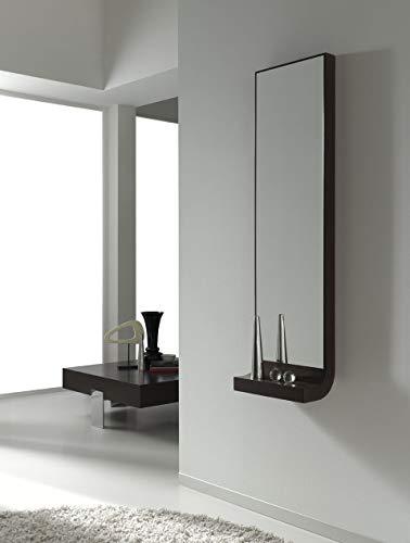 dfierro a x a – Console avec Miroir sans tiroir, Bois, 40 x 20 x 140 cm, Couleur Noir