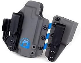 Black Arch Entrada Appendix Carry Holster for a Glock 19 - Carbide&Blue