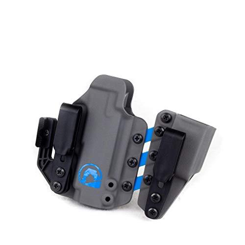 Black Arch Entrada Appendix Carry Holster for a Sig P365/SAS/X/P365XL - Carbide&Blue