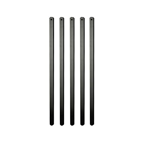 29.5 Inch x 1 Inch Black Aluminum Flat Balusters (75 Pack), Wood and Composite Deck Railing Compatible, Semigloss Finish