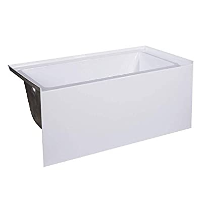 "Fine Fixtures Acrylic/Fiberglass Soaking Bathtub, Exclusive Extra Small Size 48"" x 32"", Alcove/Apron Front (Left Hand)"
