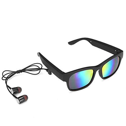 Lpinvin Gafas de Sol Gafas de Sol polarizadas 5.0 Bluetooth Stereo Headset conducción ósea Vidrio Inteligente Música del Auricular de Bluetooth Gafas de Sol polarizadas para el Deporte