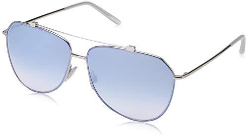 Ray-Ban 0DG2190 Occhiali da Sole, Multicolore (Azure/Silver), 59.0 Donna
