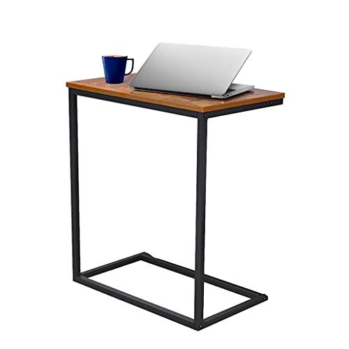 SYN-GUGAI Sofá Snack Coffee Side Laptop Holder C Forma Mesa Base de Escritorio para Sala de Estar, Dormitorio, Balcón, Oficina