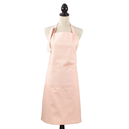 SARO LIFESTYLE Apron Collection Classic Cuisine Denim Apron/2443.RS01, Full, Rose