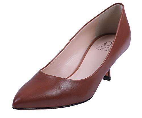 Love Shoes Damen Pumps 40 edel spitz Cognac Braun komplett Echt Leder Made in Italy handgefertigt