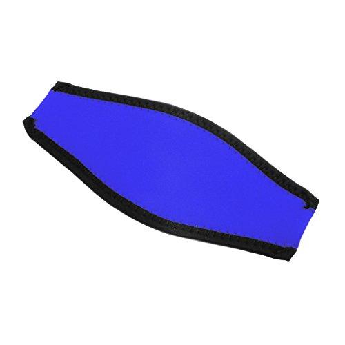 MagiDeal Profesional Universal Comodidad máscara de Neopreno Cubierta de la Correa Acolchada Wrap Pelo Pantalla Buceo Buceo Freediving Gear Accesorios–elección de Color, Azul Real