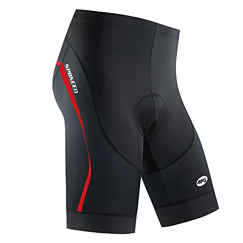 Mens Bike Shorts Gel Padded Plus Size Tights Riding US XXL Red