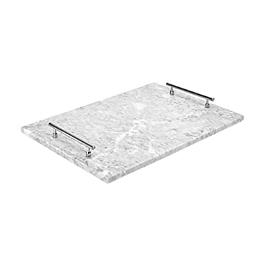 Miko 100% Marble Serving Tray For Cheese, Pastries, Cake, Fruit