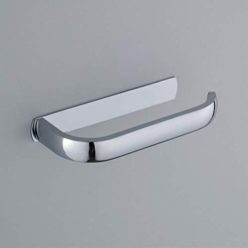 Homovater Toilettenpapierrollenhalter, Messing/Kupfer, Wandmontage, verchromt, für Badezimmer, WC, Chrom-Finish, silber