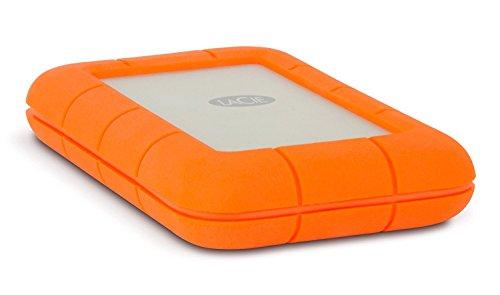 LaCie 301558 Rugged MINI Hard disk Esterno, Arancione/Grigio, 1 TB SSD